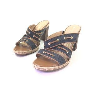 Naturalizer N5 Comfort Heels Sandal Sz 8 1/2M R148